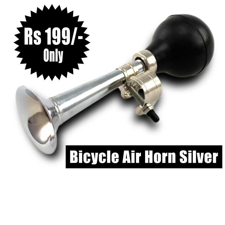 Bicycle Air Horn Silver