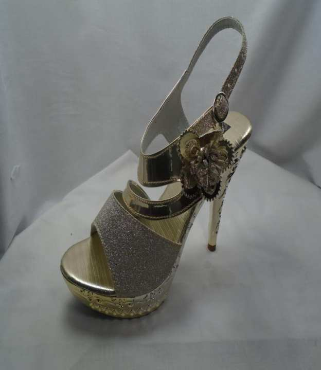 Silver Color Synthetic Fancy Heels  Strppy Sandal For Women - 411-51083
