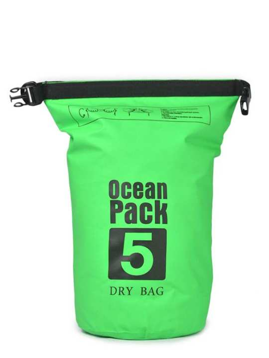 Ocean Pack Waterproof Dry Bag - 5L - Green