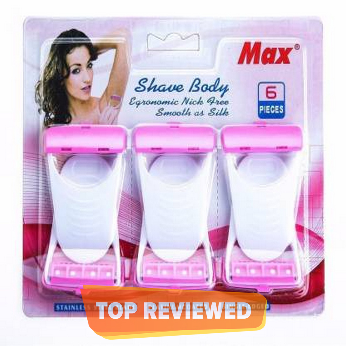 Pack of 6 Max Sofit Shave Body Disposable Safety Razor/Razer/Blade For Women