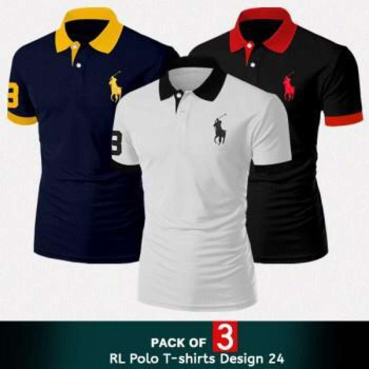 Pack Of 3 Polo T Shirts For Men by Hit & Fit Collection
