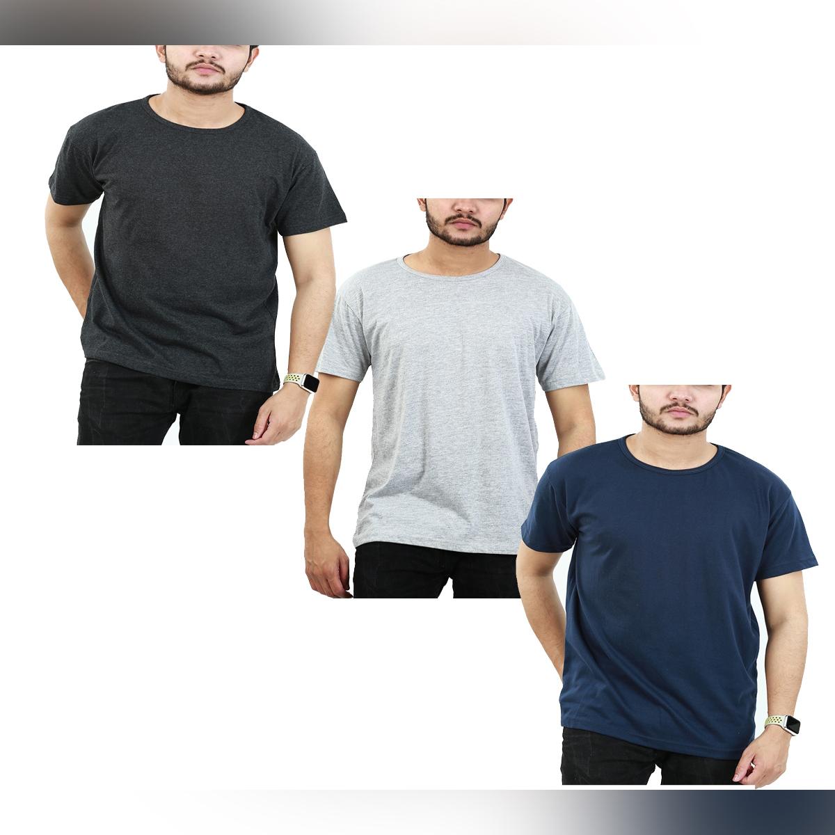 Bindas Pack Of 3 Summer O-Neck Half Sleeves T Shirts for Men