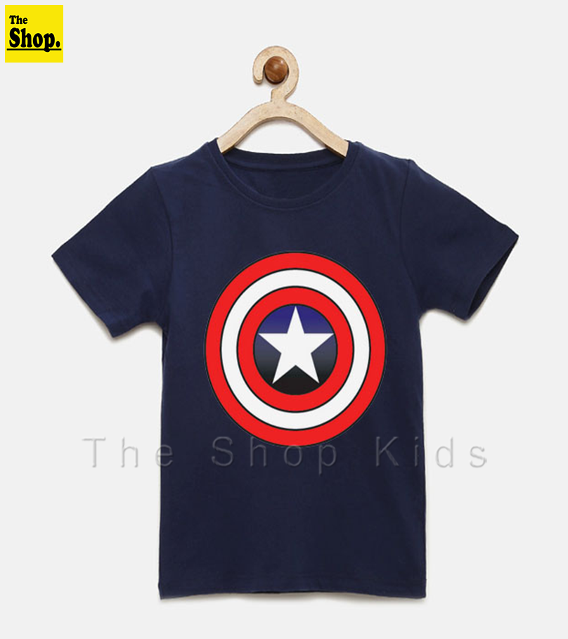 The Shop - Super Hero Kids TShirt, Captain America T-Shirt For Boys & Girls Kids - SH1-MCA