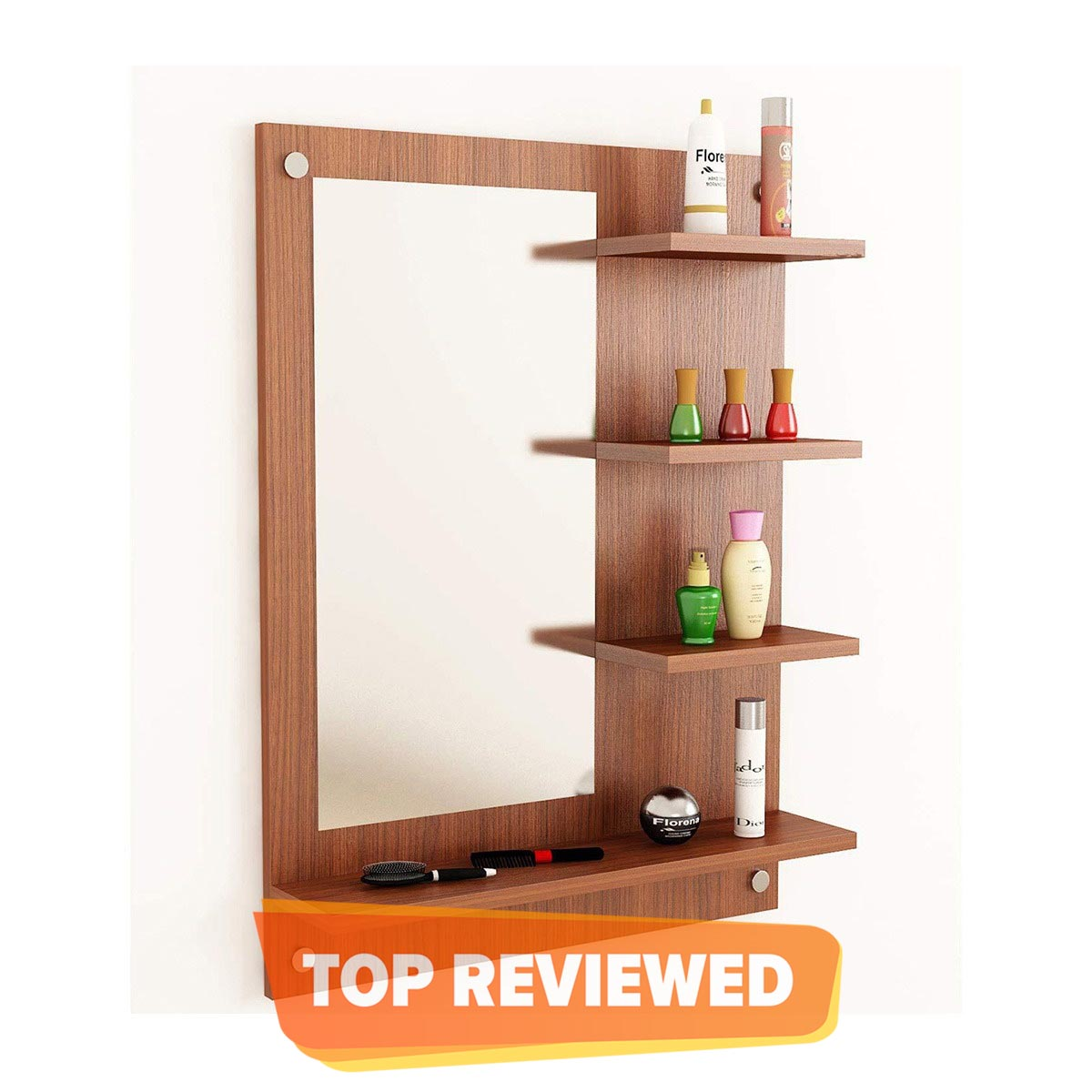 Dressing Table / Wall Mirror With Shelf