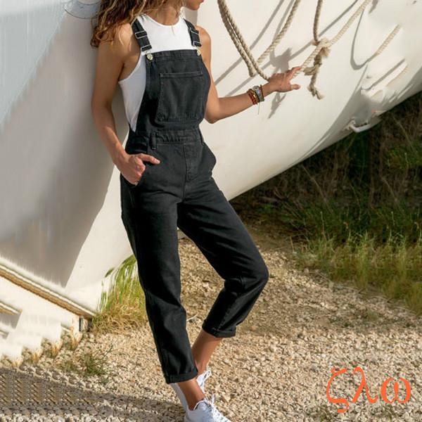 Denim Romper for ladies and women jumpsuit Skinny Type