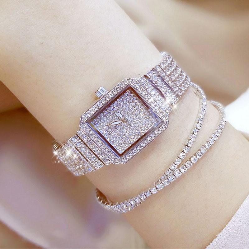 Luxury Watches Women Beesister Ladies Fashion Full Women'S Diamond Watch Alloy Strap Bracelet Clock Female Quartz Wristwatches