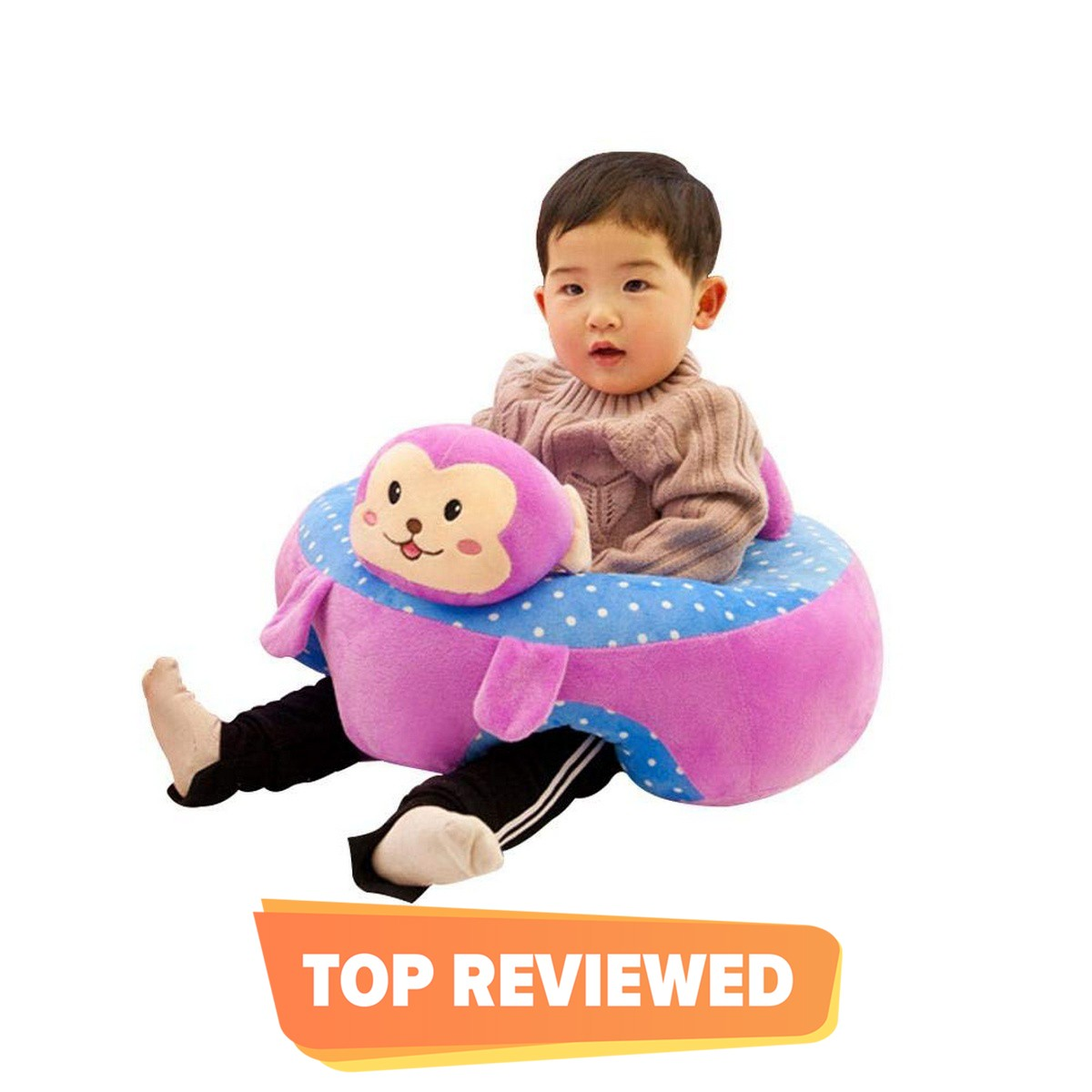 Baby Black Mickey Mouse Seats Sofa Plush Support Seat Learning To Sit Baby Plush Toys