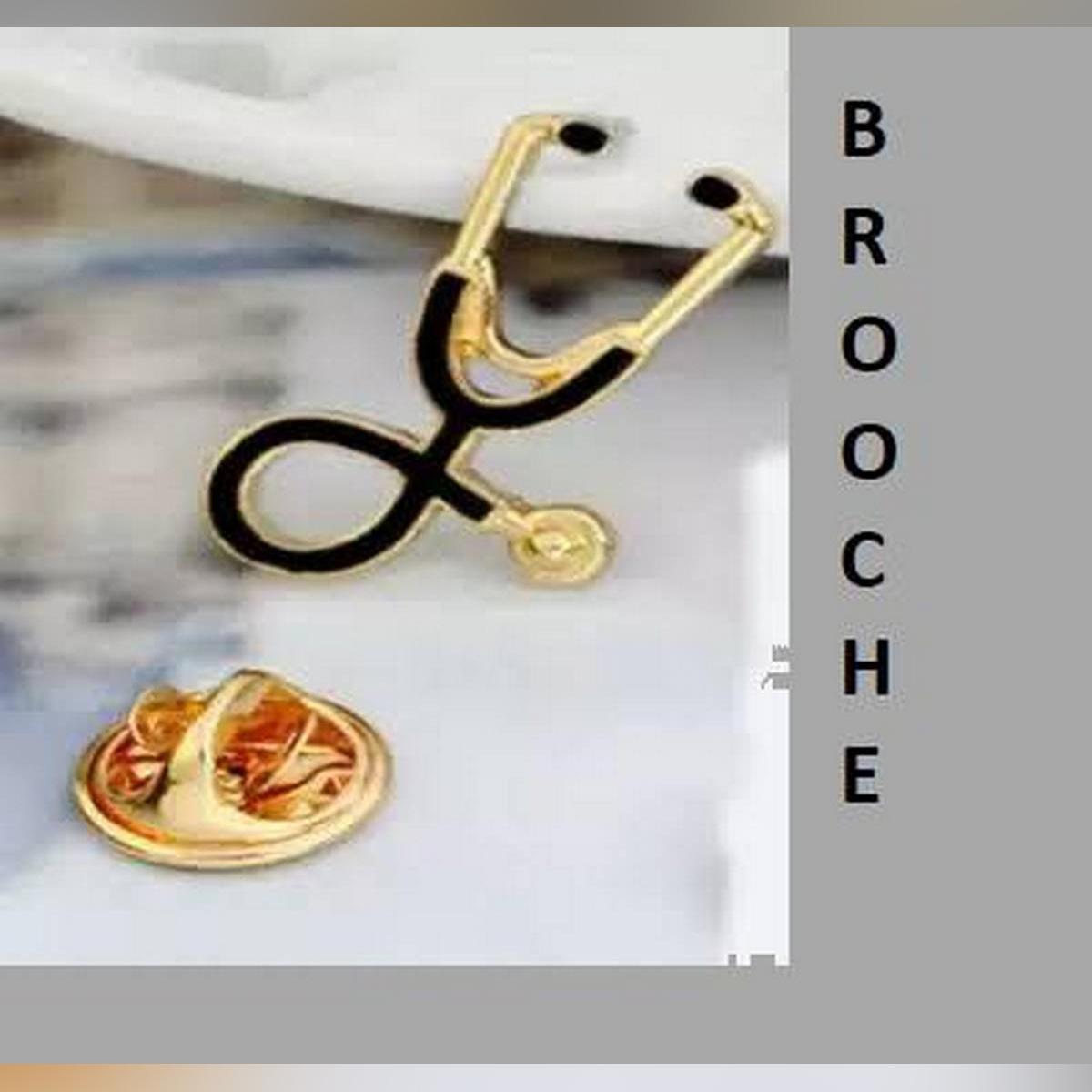Enamel Stethoscope Doctor Nurse Brooches Pin Coat Lapel Badge Medical Jewelry