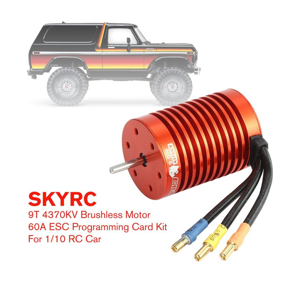 SKYRC 9T 4370KV Brushless Motor 60A ESC Programming Card Kit for 1/10 RC Car