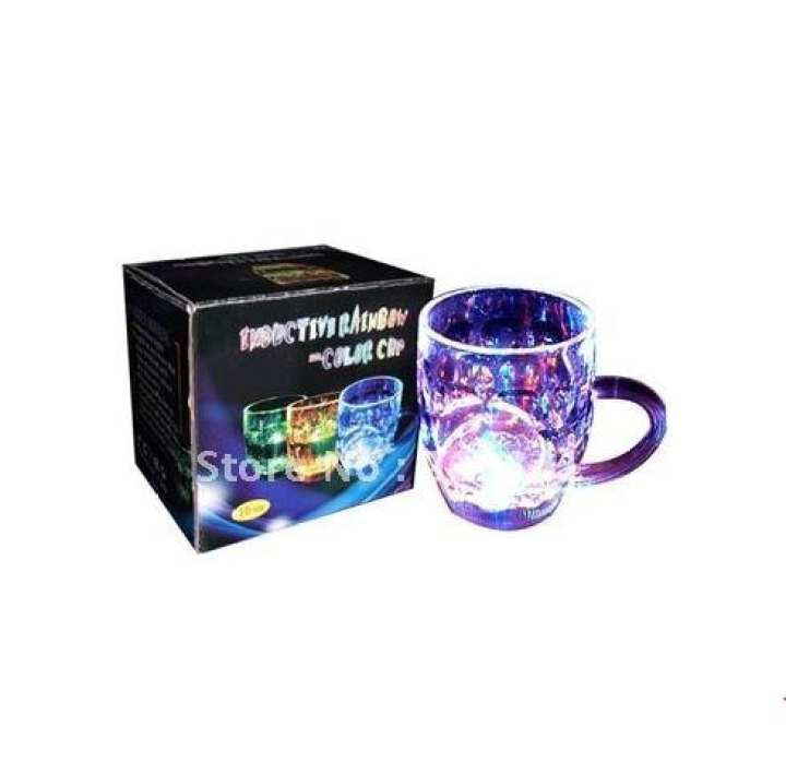 AGM LED Light-Up blinking Flashing Rocks Glass Barware Lamp Drink Cup