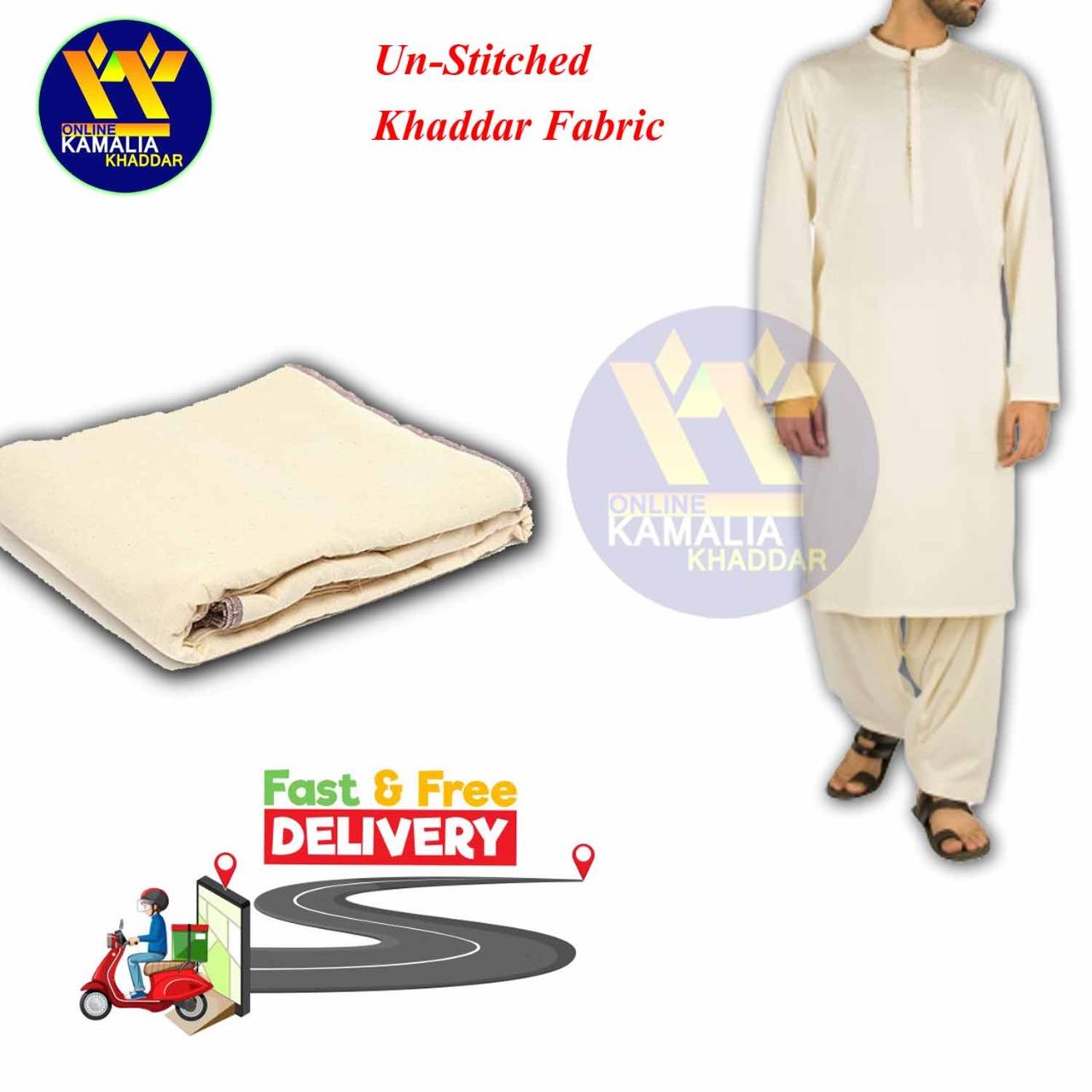Special Khaddar unstitched Shalwar Kameez - 7 Meters - offWhite