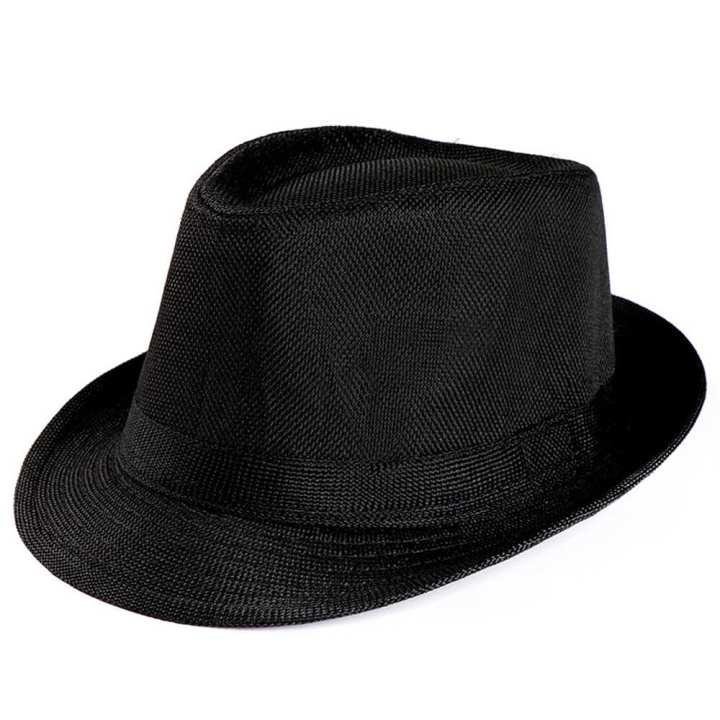 Duang Duang Unisex Trilby Gangster Cap Beach Sun Straw Hat Band Sunhat