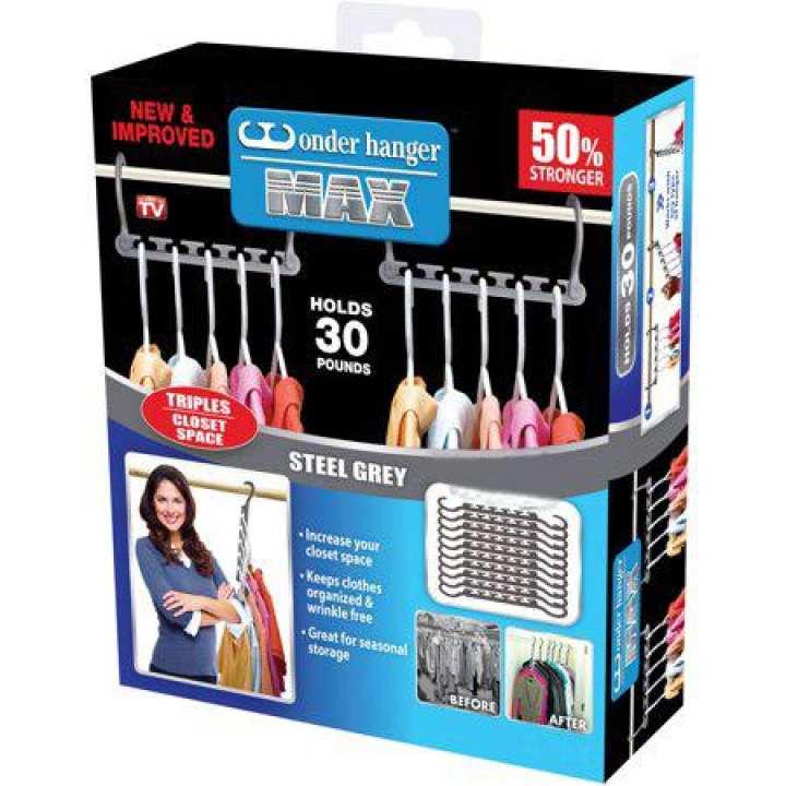 As seen on tv Pack Of 8 - Wonder Hanger - - Closet Wardrobe Organizer