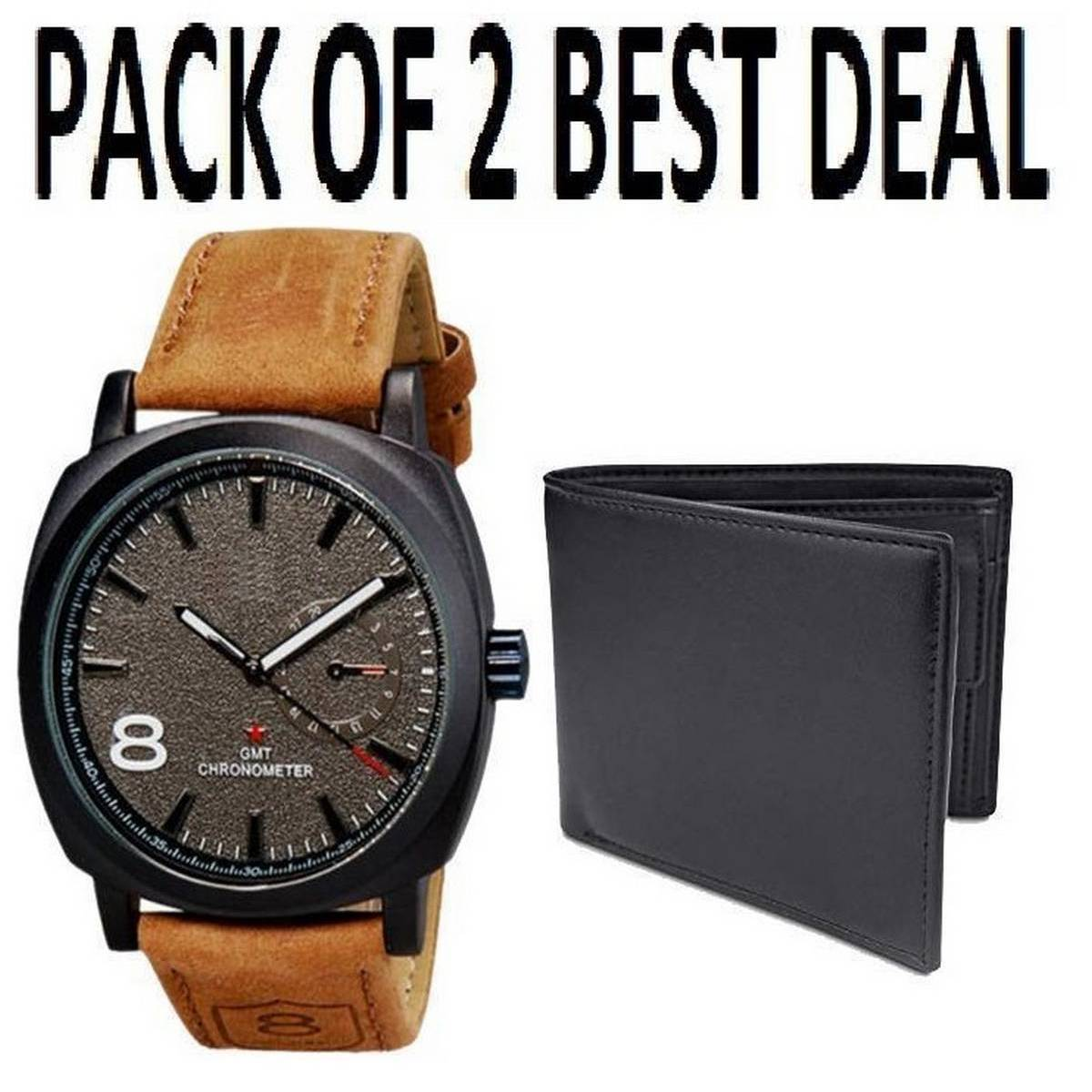 Pack of 2 - Wallet & Watch For Men