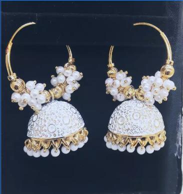 Golden earrings for girls
