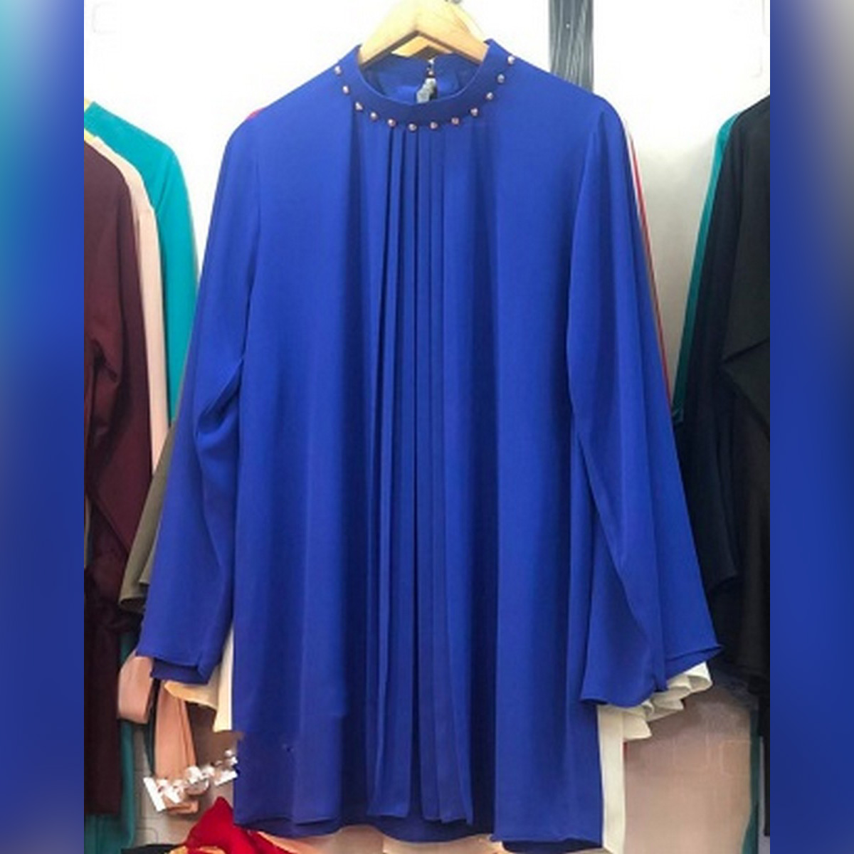 WESTERN TOP IN BLUE COLOUR