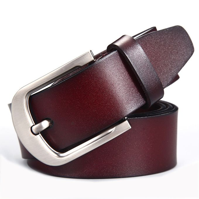 Brown Classy Leather Belt For Men – Silver Buckle: Buy Online at Best  Prices in Pakistan | Daraz.pk