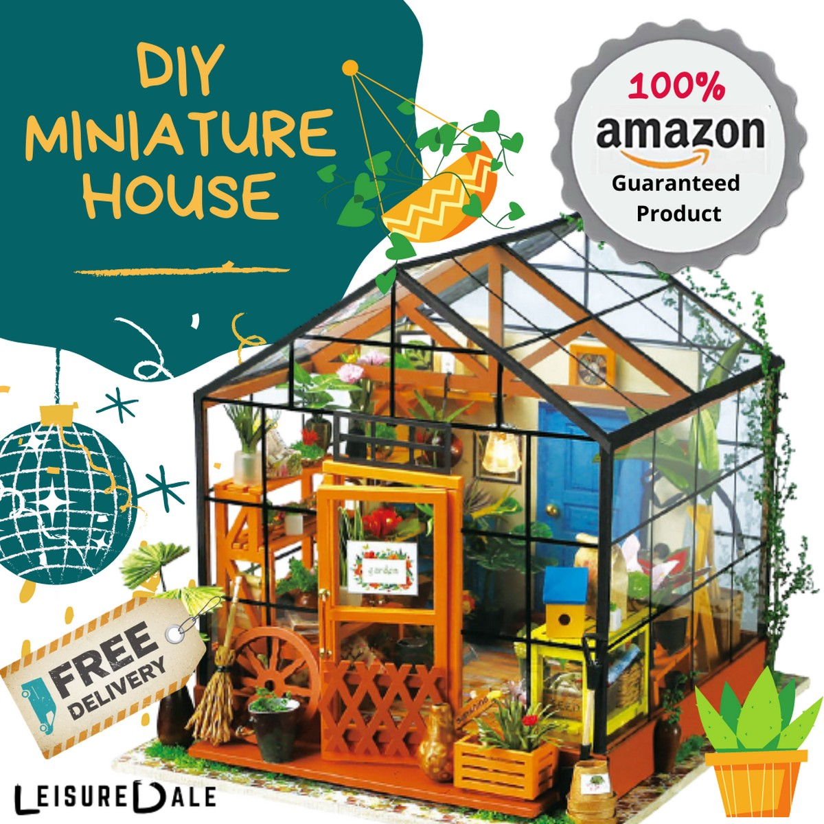 DIY Miniature Doll House Kit Robotimes Mini Size 3D Wooden Puzzle & Hobby Craft with LED Light For Girls & Boys Modern Dollhouse