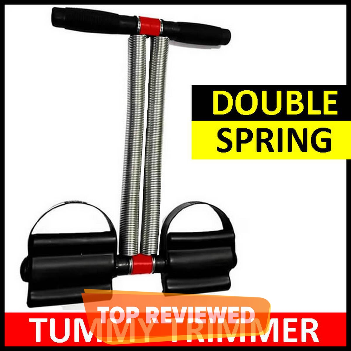 Double Spring Tummy Trimmer Exercise Tool Equipment for Tummy / Biceps / Triceps - for Women & Men
