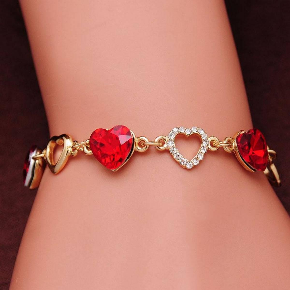 girls Bracelets Heart shape bracelets for girls women ladies and teenage girls