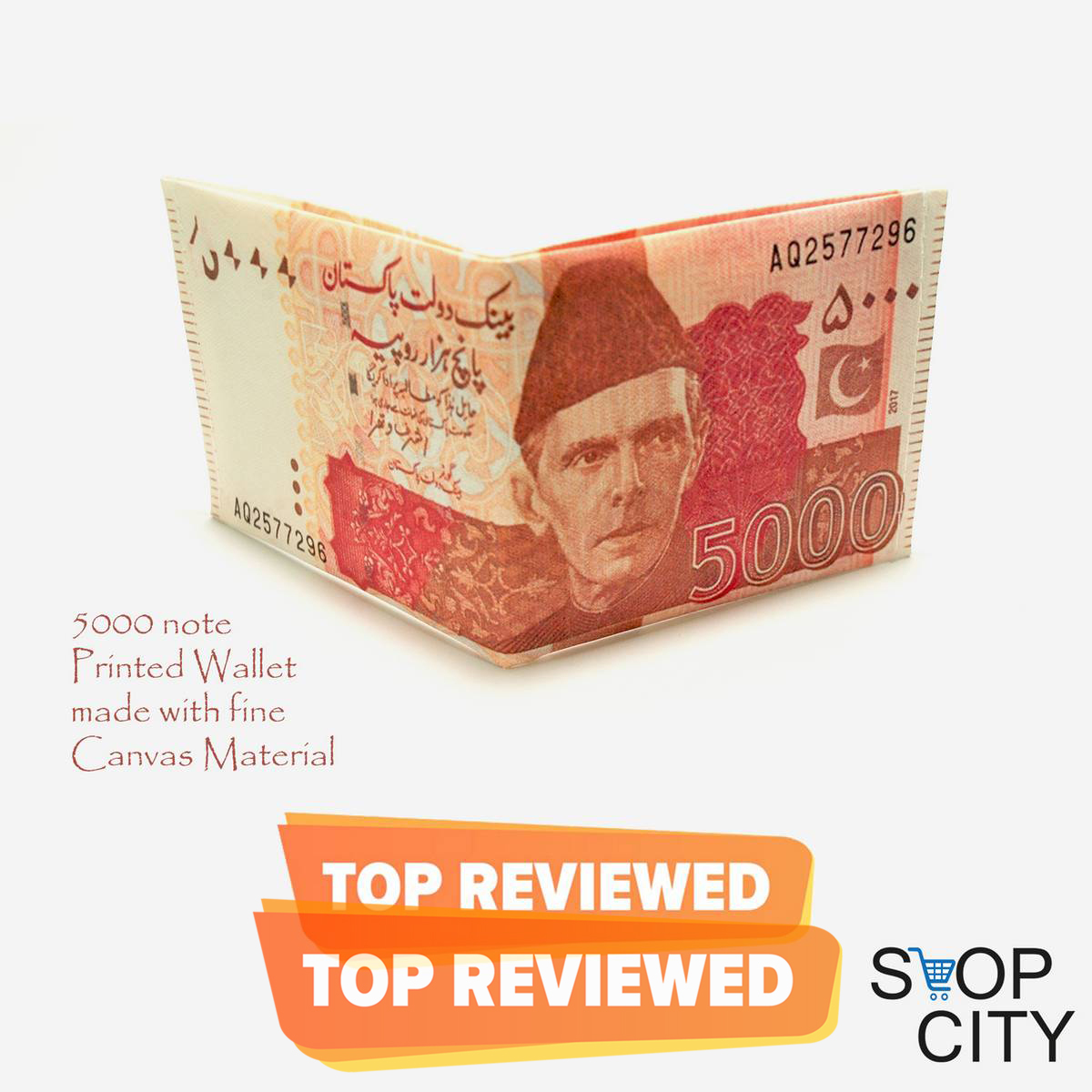 Pakistani Rs 5000 Shaped Wallet For Men Five Thousand Rupee Note Wallet Purse free home delivery