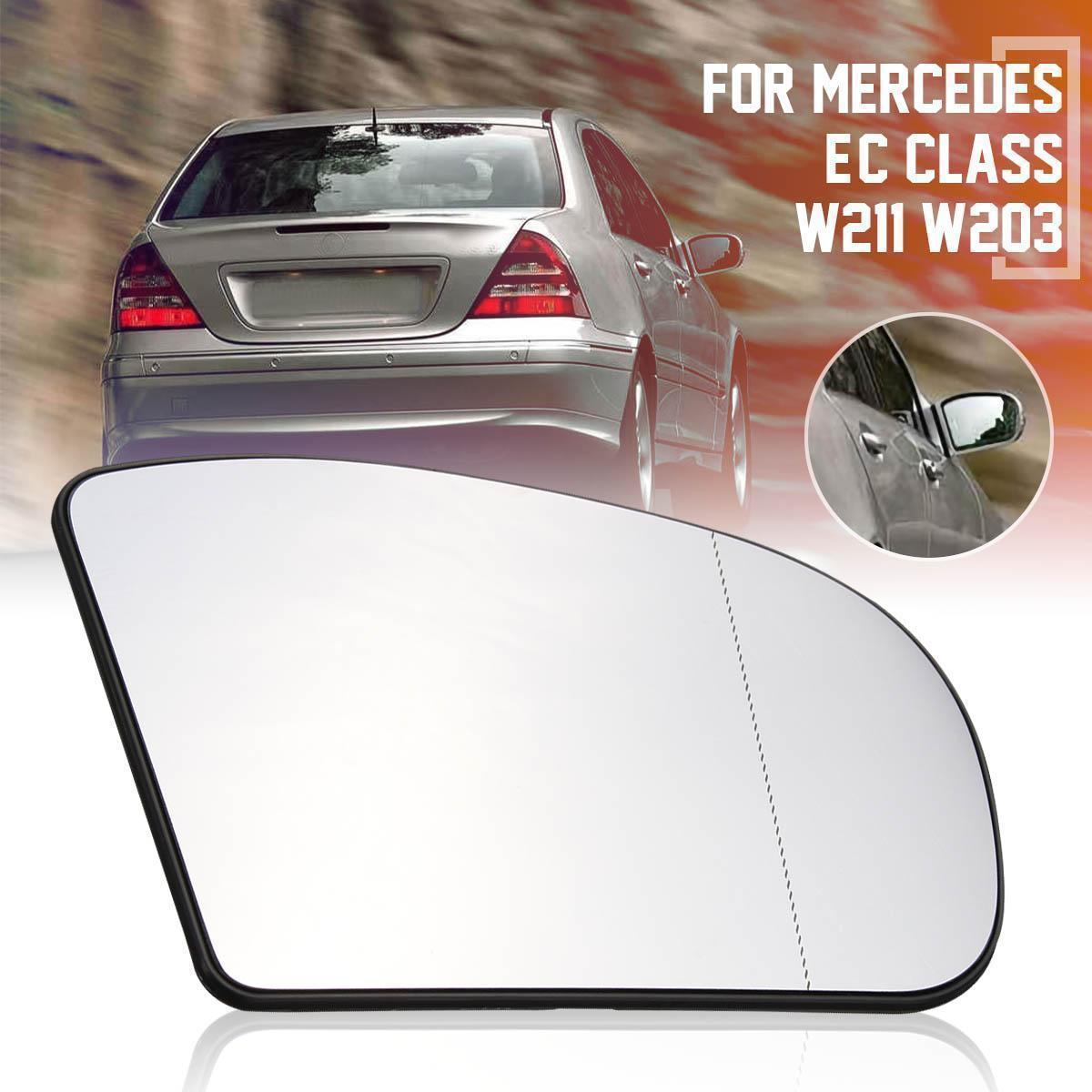 C-class W211 W203 Wide Angle Heated Door Mirror Glass For 2003-2006 Mercedes E