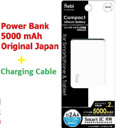 Flebi Smart Portable Power Bank 5000 mAh 2.4 A for android phones