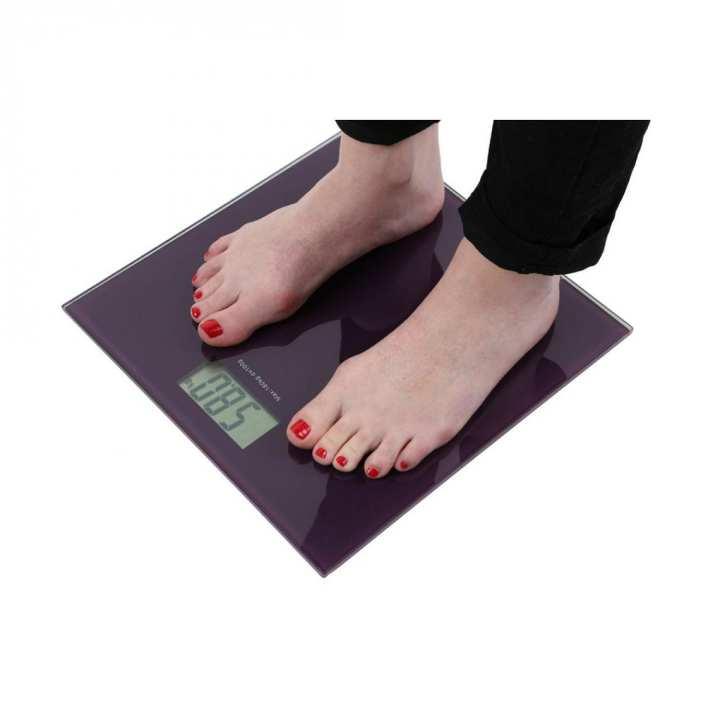 Glass Electronic Digital Weight Machine - Purple