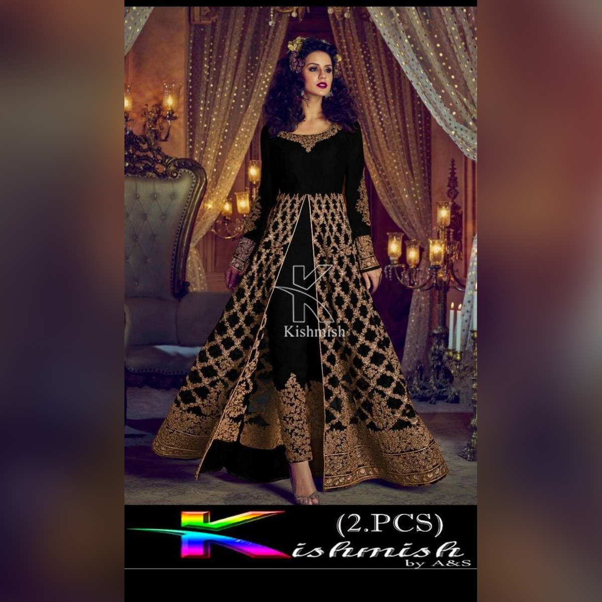 Fashion ( 2 pcs ) Decent Embroidery Maharani Suit For Summer Girls and women