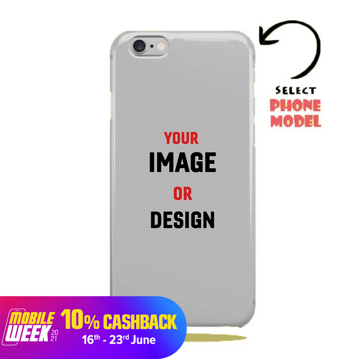 Customized Universal Mobile Back Cover All Models are Available