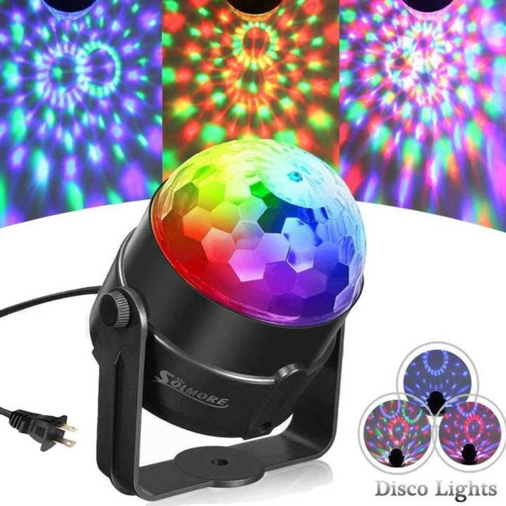 5W RGB Sound Activated DJ Disco Ball Lights Stage Lights
