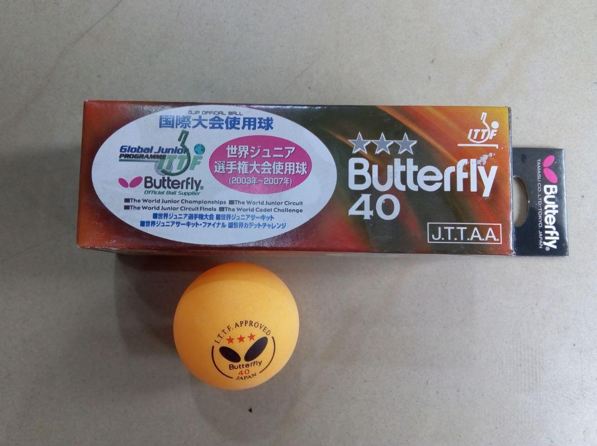 Table Tennis Ball Pack of 3 butterfly balls