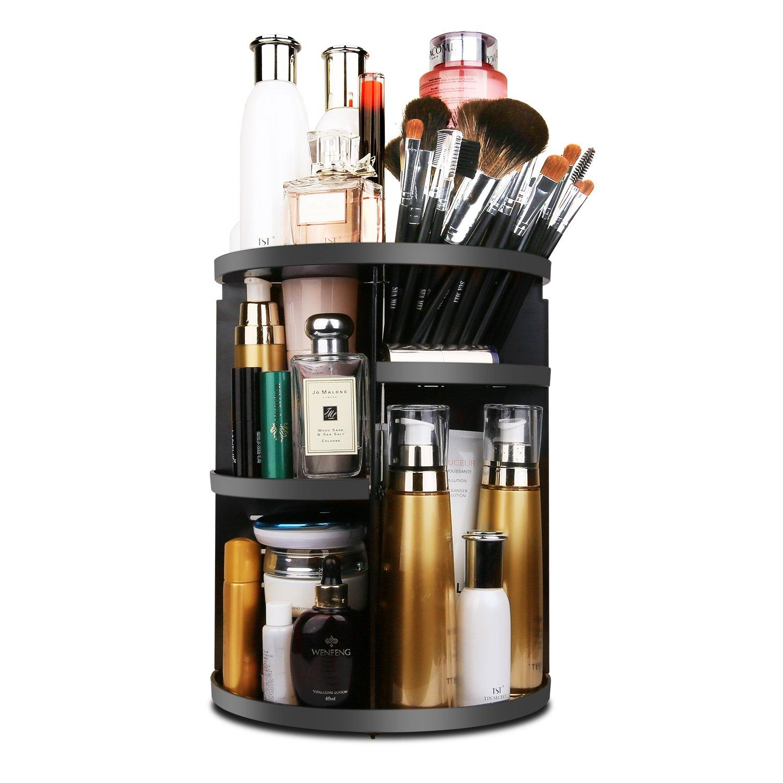 Makeup Organizer 360 Degree Rotating, Adjustable Multi-Function Cosmetics Storage Box, Small Size