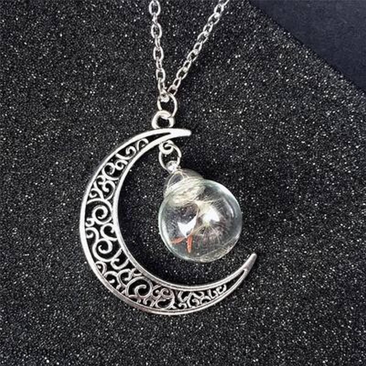 Moon Design Wish Bottle Pendant Necklace For Women - Fashion Infinity