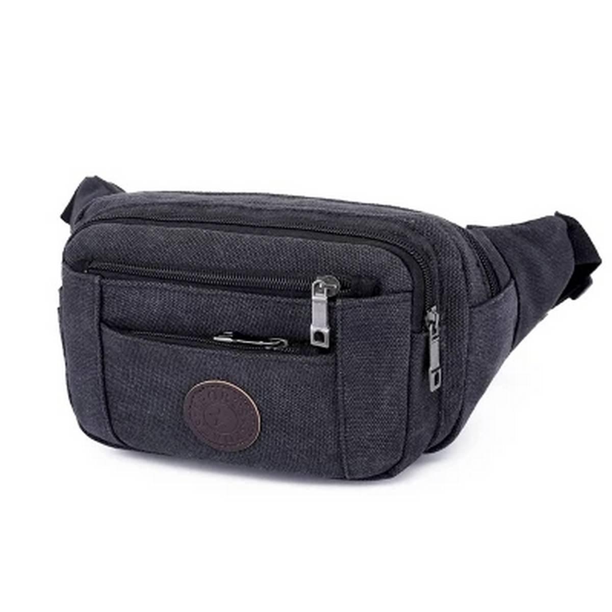 New Men Small Waist bag  Multiple pocket Canvas mobile&change Carrier