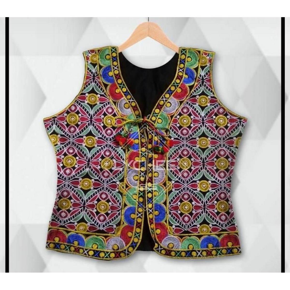 AZ-Sindhi Sleeveless Embroidery Blazer