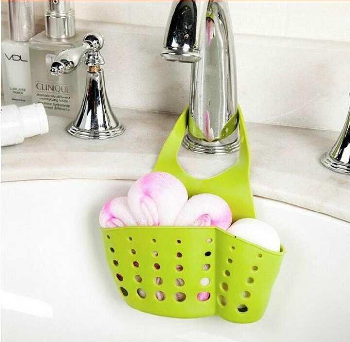 Plastic Sink Sponge and Soap Holder Organizer