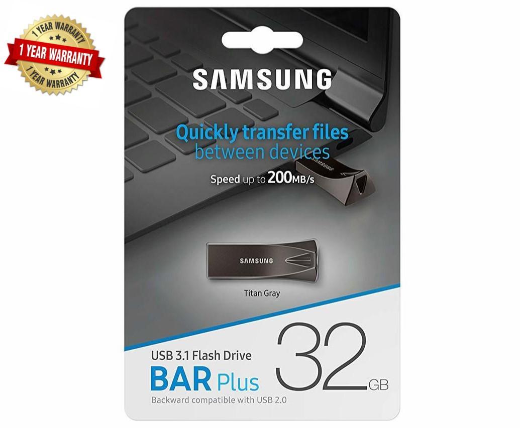 Samsung 32gb Bar Plus Metal Usb 3.1 Flash Drive - 1 Year Warranty