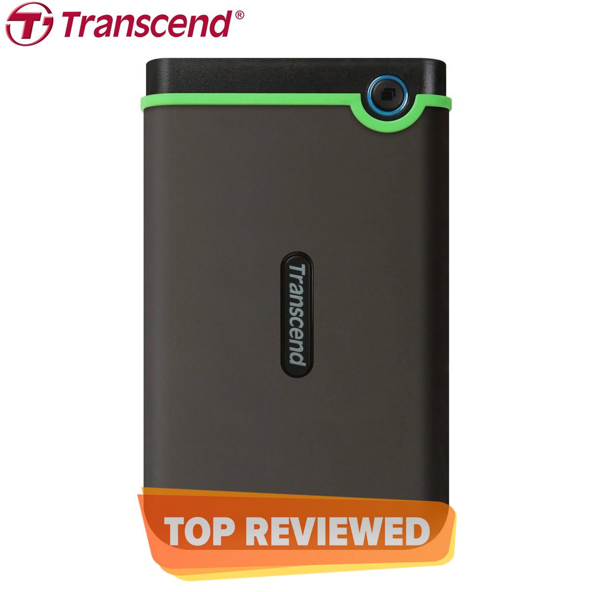 Transcend 1TB StoreJet 25M3S USB 3.1 External Hard Drive Shock Proof Military Drop Tested