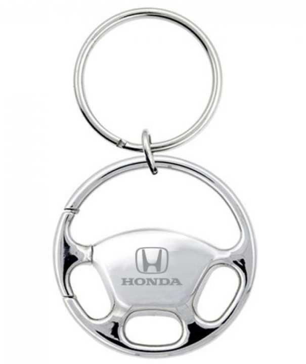 High Quality Steel Honda Keychain & Keyring - Steering Wheel