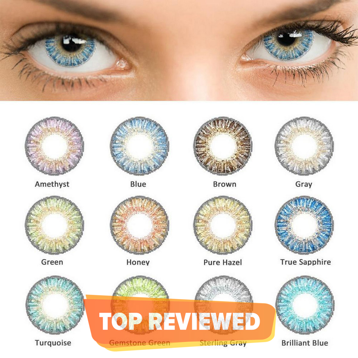 Pair of Multicolour Contact Lens for Women