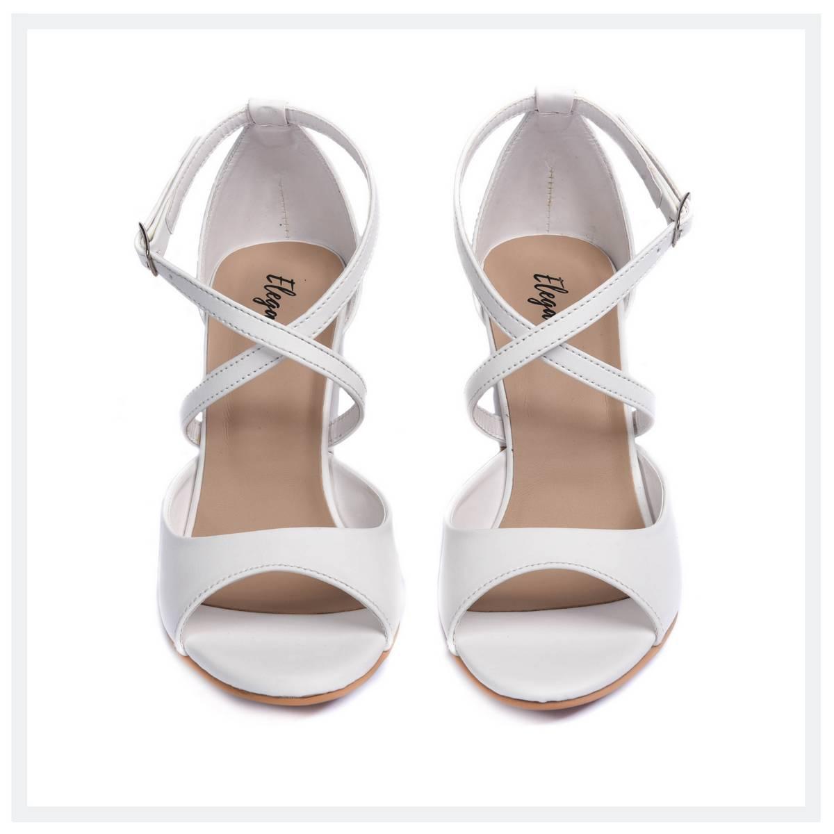 ISABELLA  Women's High Heel Sandals  White  Elegancia