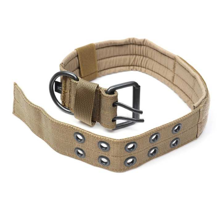 Adjustable Control Nylon Military Tactical Dog Collar Buckle Training Harness M Brown