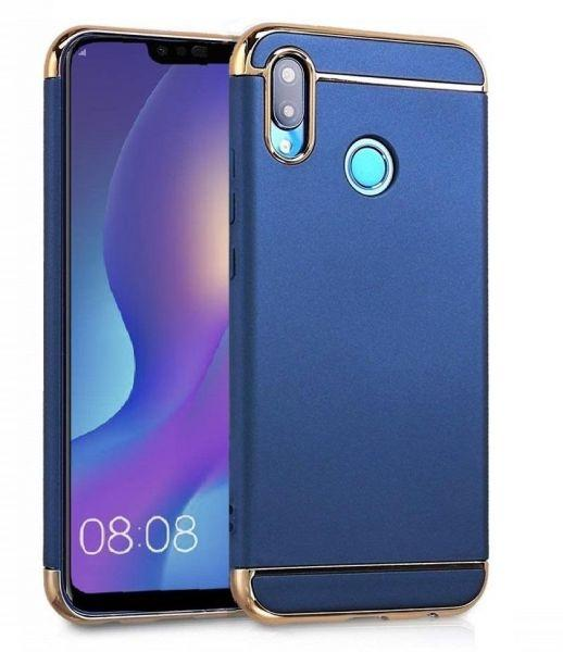 Huawei Y9(2019) - 3 IN 1 Electroplating Classic Design Back Case