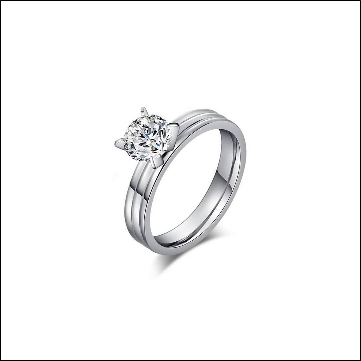 Black Hunter Random Designs Ladies Engagement Diamond Ring For Girls With Ring Box