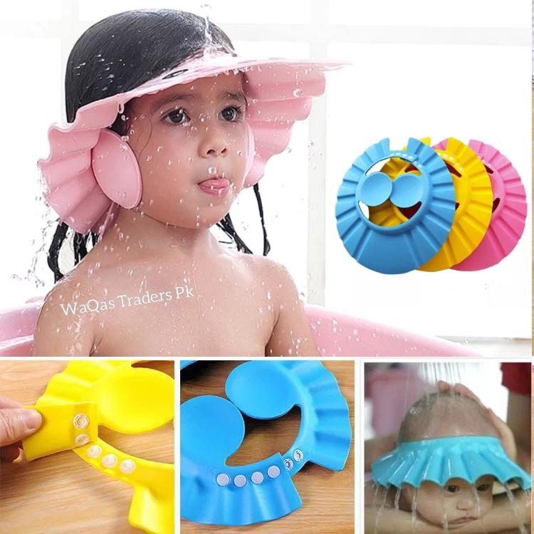 Baby Shower Cap Adjustable Hair Wash Hat for kids Infant Ear Protection Safe Children Kids Shampoo Shield Bath Head Cover