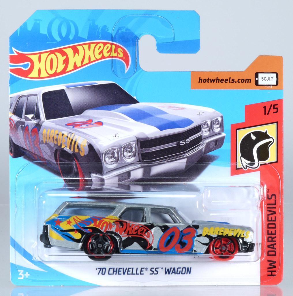 70 CHEVELLE SS WAGON blue E Case Worldwide 2018 Hot Wheels
