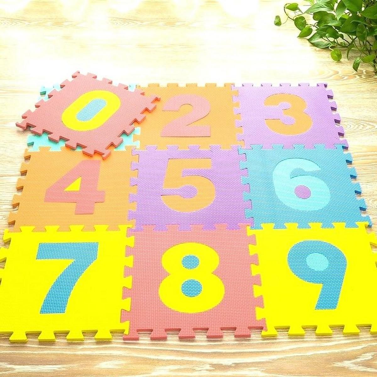 Kids Play Mat ABC Mat A to Z 26 Pieces and Number Mat 0 to 9 10 Pieces Foam Floor Mat 1ft x 1ft