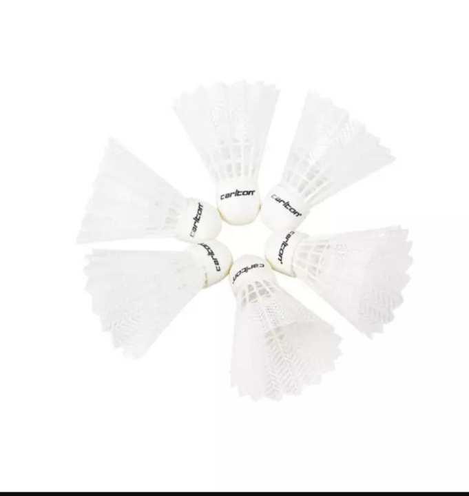 Carlton T800 Nylon Shuttlecocks 6pcs (White)