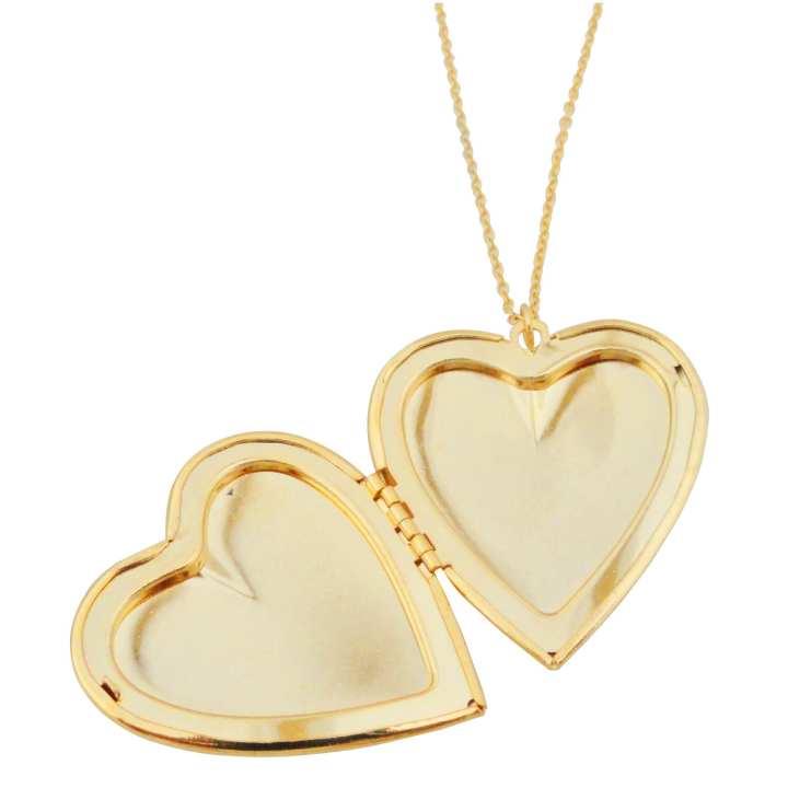 Heart Shape Gold Locket Insert 2 Photos